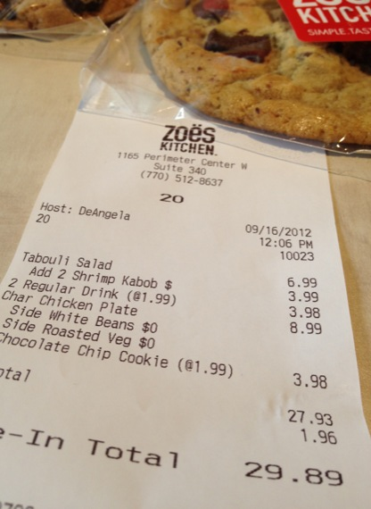 Zoes Kitchen 171 Review Atlanta